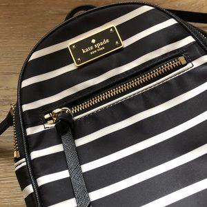 Kate Spade Wilson Rd Mini Striped Backpack EUC